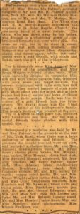 Newspaper Report on the Wedding of William Henry Morgan and Emma Ida Palmer