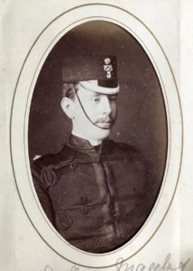 Lieutenant Arthur M. Manby, 3rd Volunteer Battalion, South Staffordshire Regiment, c. 1882