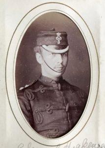 Captain Edward Hickman, 3rd Volunteer Battalion, South Staffordshire Regiment, c. 1882