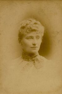 Florence Evans, Aug 1889. Photo by Mrs Williams, Darlington St, Wolverhampton