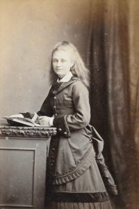 Florence Marten, c. 1874. Photo by Mrs Williams, Talbot Place, Darlington St, Wolverhampton