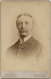 Colonel T.B. Shaw-Hellier, c. 1880. Photo by W. & A.H. Fry, 86 East Street, Brighton