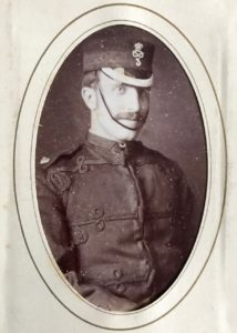 Lieutenant William R. Lysaght, 3rd Volunteer Battalion, South Staffordshire Regiment, c. 1882