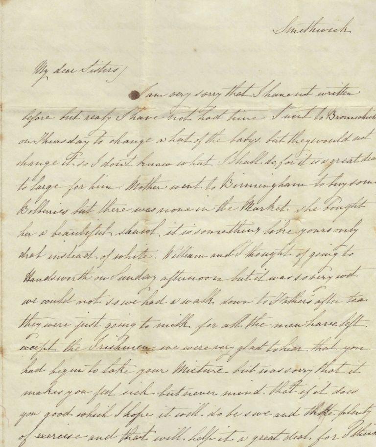 Emma Downing letter - postmarked 28 Jul 1845