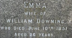 Monumental Inscription at Holy Trinity Church, Smethwick (Courtesy Paul Thomas and Ros Ditchfield, Holly Lodge School)