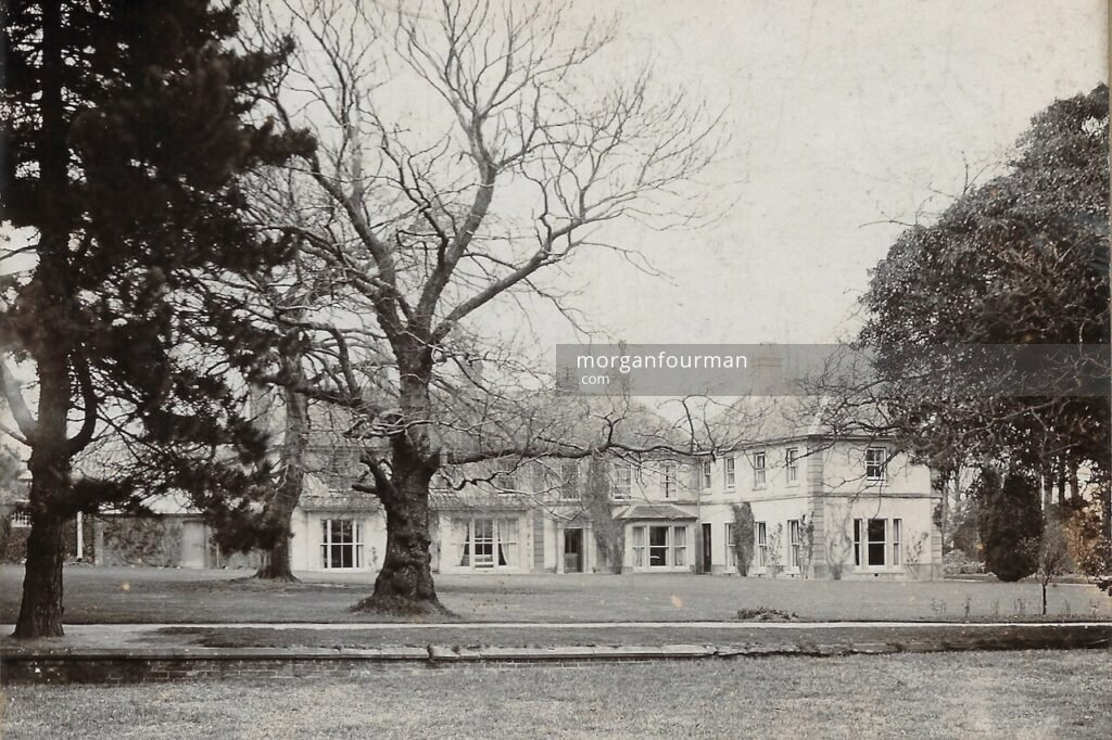 The Birches, Codsall, c. 1890. Showing the ha-ha fence across to the meadows