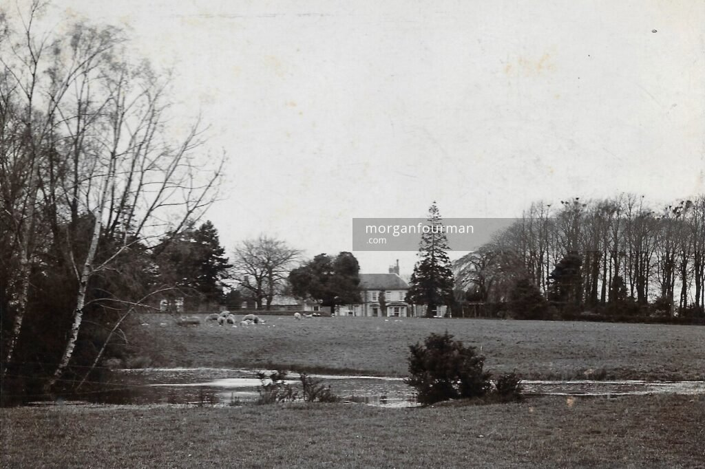 The Birches, Codsall, c. 1890. Showing the small pool and the Rookery wood on the right