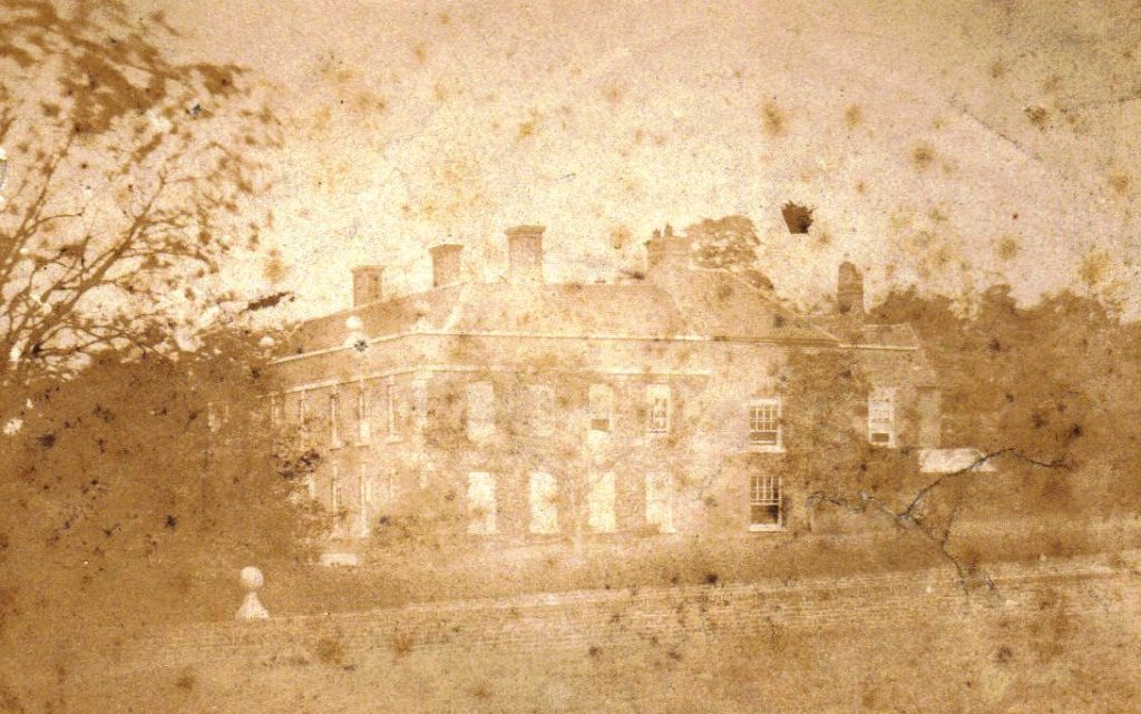 Poor quality picture of Penn Hall about 1865