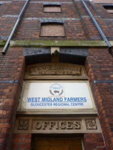 G. & W.E. Downing's Maltings, Docks, Gloucester, Feb 2017. Offices were built as a part of the 'new' malthouses on the west side of Merchants Rd
