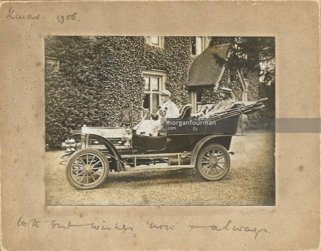 Stourton Hall in 1908 (In the car are Jim Mathews and his father Randle Mathews)
