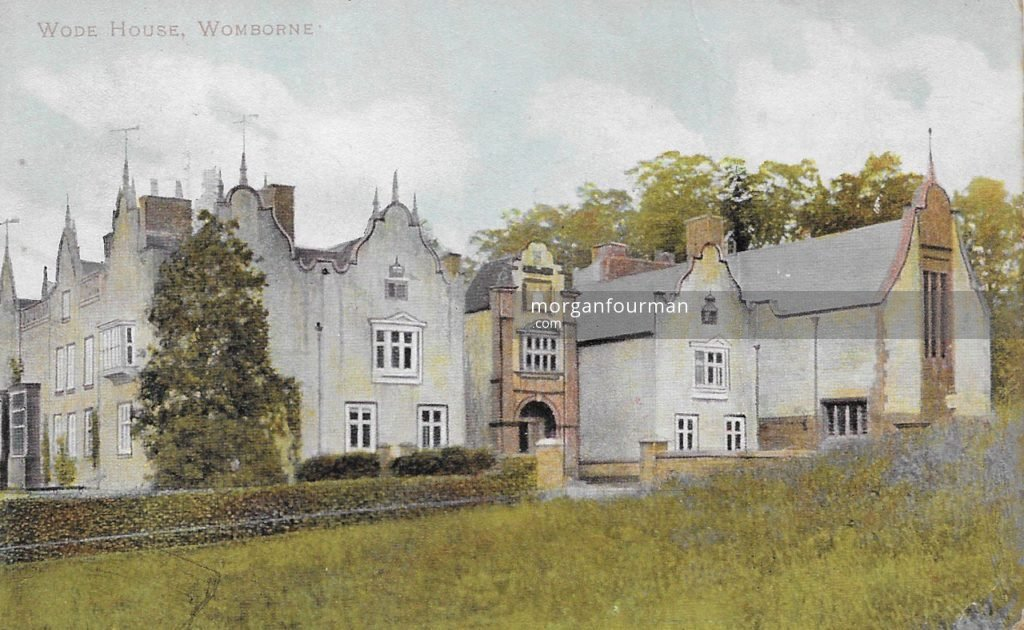 Ashbee's chapel (right) at the Wodehouse, Wombourne in about 1900. From Molly Evans' Postcard Collection