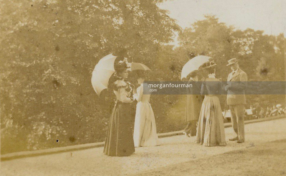 Fete at the Wodehouse, Wombourne in about 1900. Col. T.B. Shaw-Hellier on the right. From Florence Marten's Photo Album