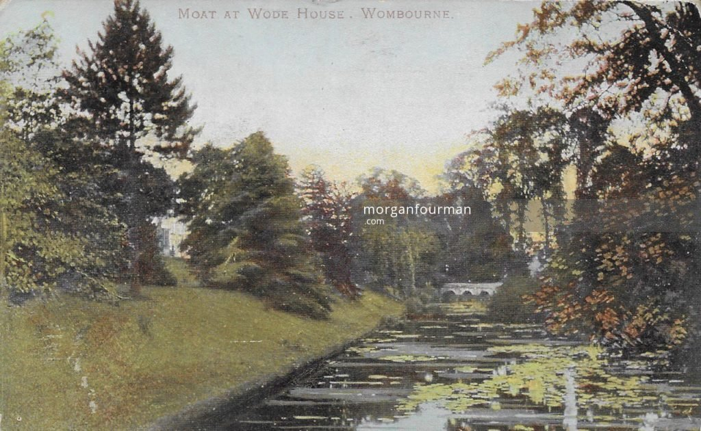 Moat at the Wodehouse, Wombourne in about 1900. From Molly Evans' Postcard Collection