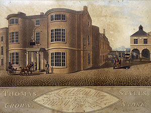 The Crown Inn in Stone Staffordshire in about 1810
