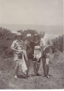 Errol Tatham (with camera), Roy Hathorn, Mrs Roy and Alistair, Umkomaas, 1914