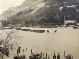Forming up, Presentation of Colours, Alameda Parade, Gibraltar, 1912