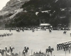 General Sir A. Hunter and Staff (march past), Presentation of Colours, Alameda Parade, Gibraltar, 1912