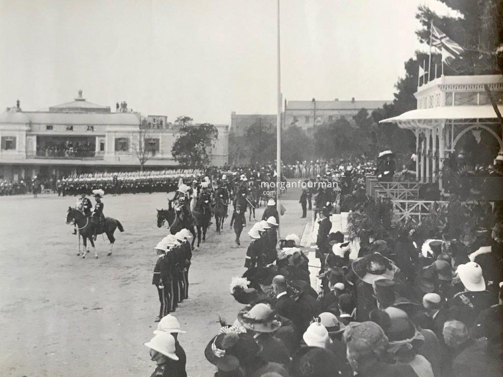 King George V, Presentation of Colours, Alameda Parade, Gibraltar, 1912
