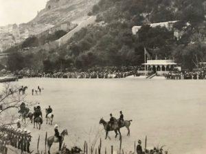 The Inspection, Presentation of Colours, Alameda Parade, Gibraltar, 1912
