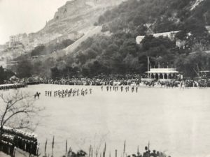 Drums (quick march), Presentation of Colours, Alameda Parade, Gibraltar, 1912