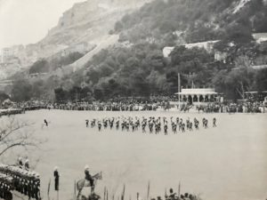 Band and Drums (slow march), Presentation of Colours, Alameda Parade, Gibraltar, 1912