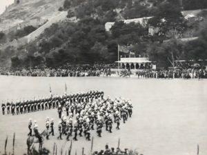Auld Lang Syne, Presentation of Colours, Alameda Parade, Gibraltar, 1912