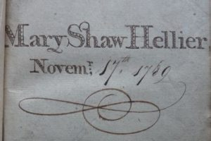 Mary Shaw-Hellier's Prayer Book Name Insert