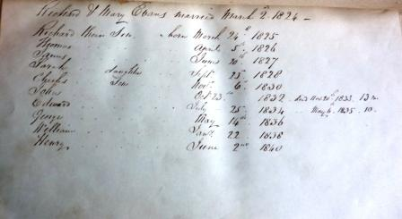 Mary Shaw-Hellier's Prayer Book Birth List