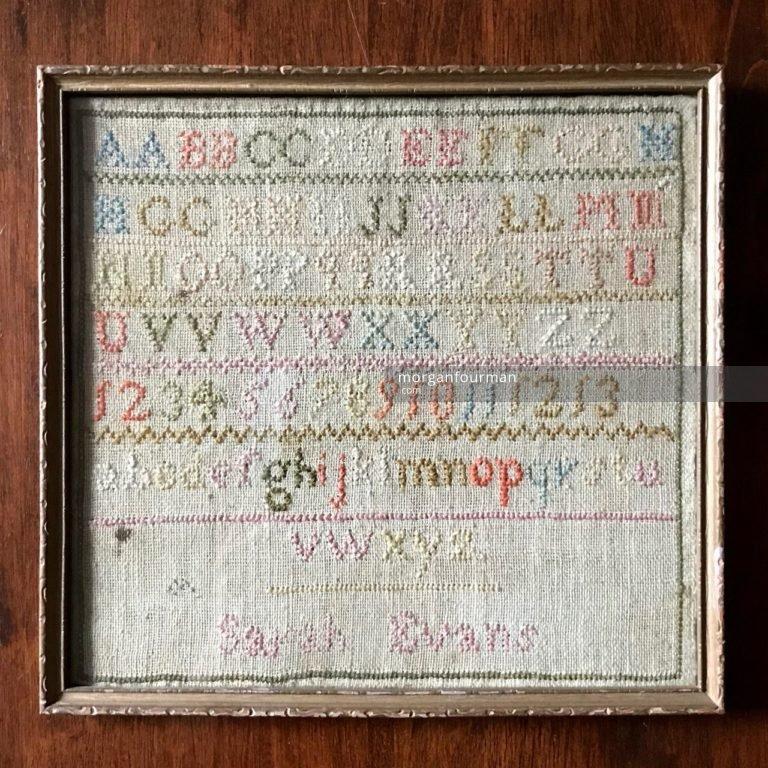 Samplar by Sarah Evans, c. 1838