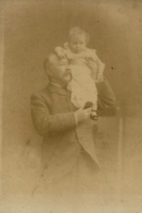 Henry and Molly Evans, c. 1890. Photo by Bennett Clark, 74 Darlington St, Wolverhampton