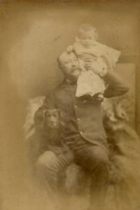 Henry, Molly and Sweep the dog, c. 1890. Photo by Bennett Clark, 74 Darlington St, Wolverhampton