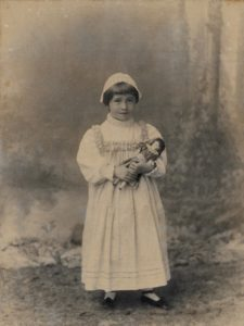 Molly Evans, c. 1892. Photo by A. Debenhams, Southsea