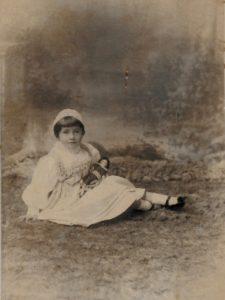 Molly Evans, c. 1893. Photo by A. Debenhams, Southsea