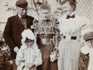 Henry, Molly, Florence, Mrs Segrave and Wilmot, The Lawn, Hagley, c. 1895