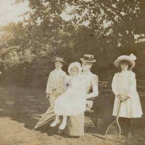 Wilmot, Fiffy, Florence and Molly Evans, The Lawn, Hagley, c. 1897
