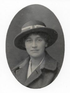 Molly Evans, possibly at finishing school in Paris, c. 1908