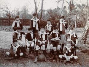Mulgrave House, Windsor, 1 Apr 1901. Noel sitting second left in the middle row