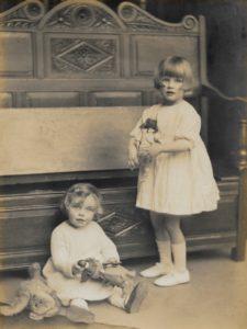 Pamela and Hazel Downing, c. 1923