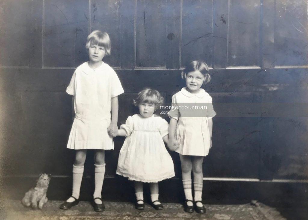 Pamela, Jill and Hazel Downing, c. 1927