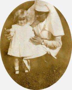 Pamela 12 mns, with Nanny Elisabeth Dekewver