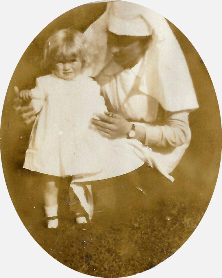 Pamela 12 mns, with Nanny Elizabeth Dekeuwer