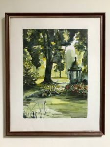 Pamela Morgan, The Park, watercolour