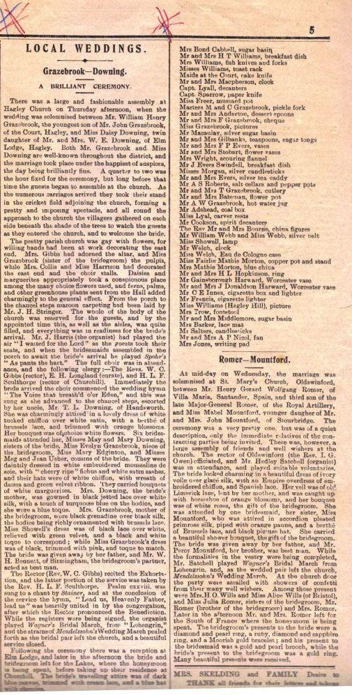 Wedding Article 1903
