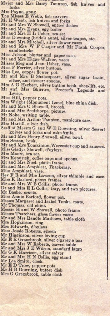 Wedding Article 1903