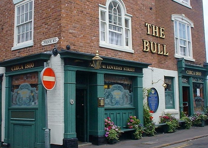 The Bull's Head Price Street where Joseph Showell was licensee 1806-1828