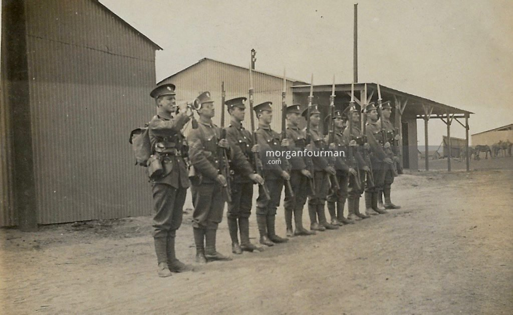 21st Battalion (4th Public Schools) Royal Fusiliers, Clipstone Camp, Mansfield, Jun 1915. Noel is fifth on the left