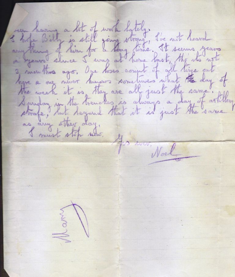 Letter from Noel Downing, Jan 1916. p.2