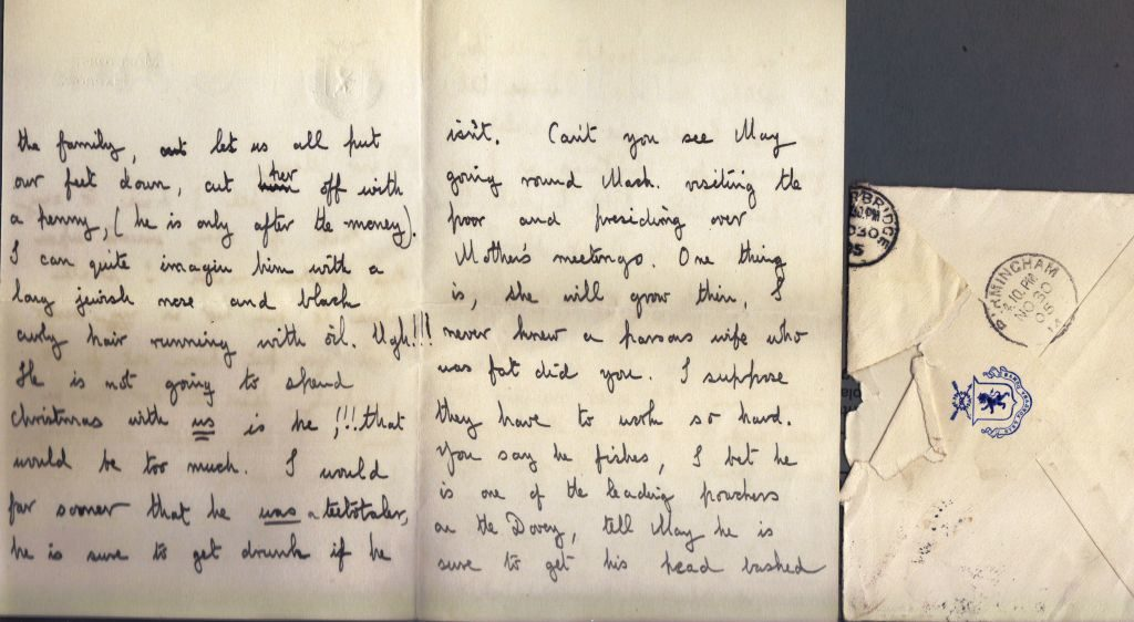 Letter from Noel Downing Aged 16, Harrow, 30 Nov 1905, p.2
