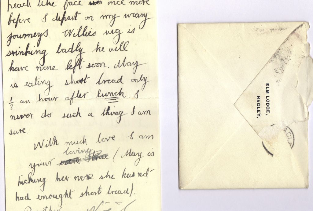 Letter from Noel Downing Aged 13