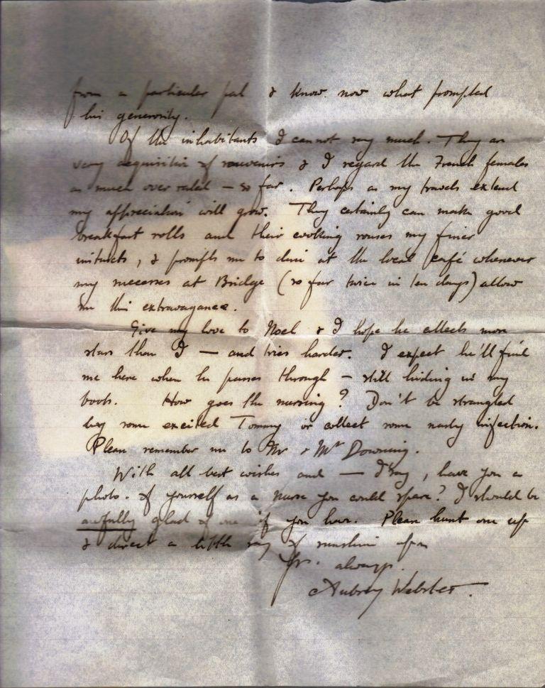 Aubrey Webster Letter